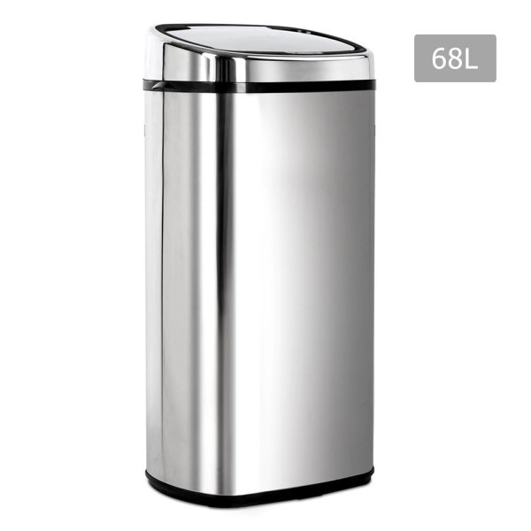 68L Stainless Steel Motion Sensor Rubbish Bin