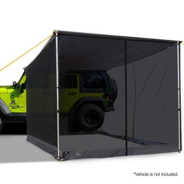 Weisshorn Car Shade Awning & mesh Screen 2.5 x 3m - Grey