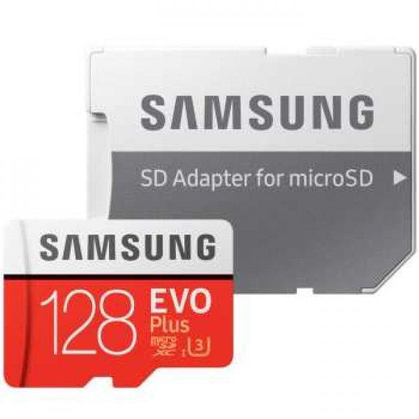 کارت حافظه microSDXC سامسونگ مدل Evo Plus کلاس 10 استاندارد UHS-I U3 سرعت 100MBps همراه با آداپتور S