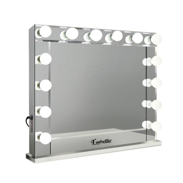 Embellir Make Up Mirror with LED Lights - Silver
