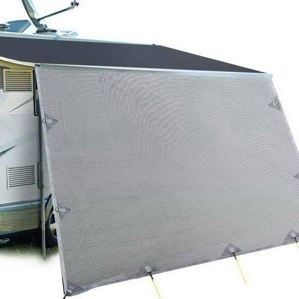 Weisshorn Caravan Roll Out Awning 3.7 x 1.8m - Grey