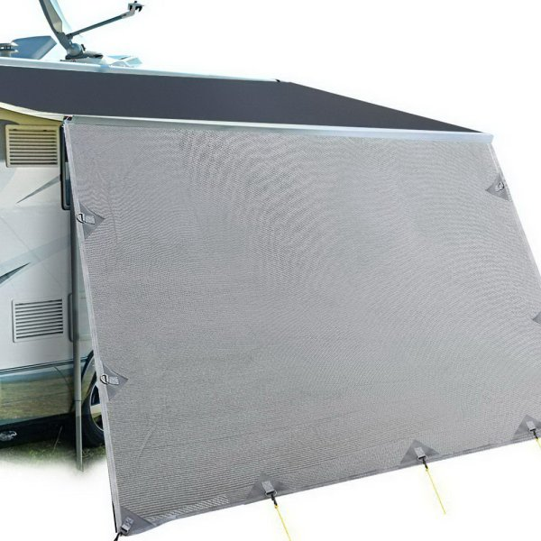 Weisshorn Caravan Roll Out Awning 4.6 x 1.8m - Grey