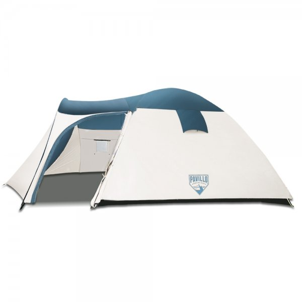 Bestway 5 Person Camping Dome Tent - Green & Cream White
