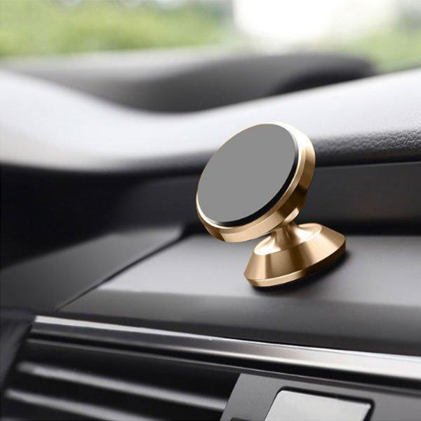 Dash Top Full Metal Magnetic Car Mount - Gold