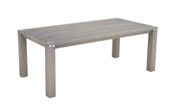 Sturdy 2 Metre Table Grey Brush Finish