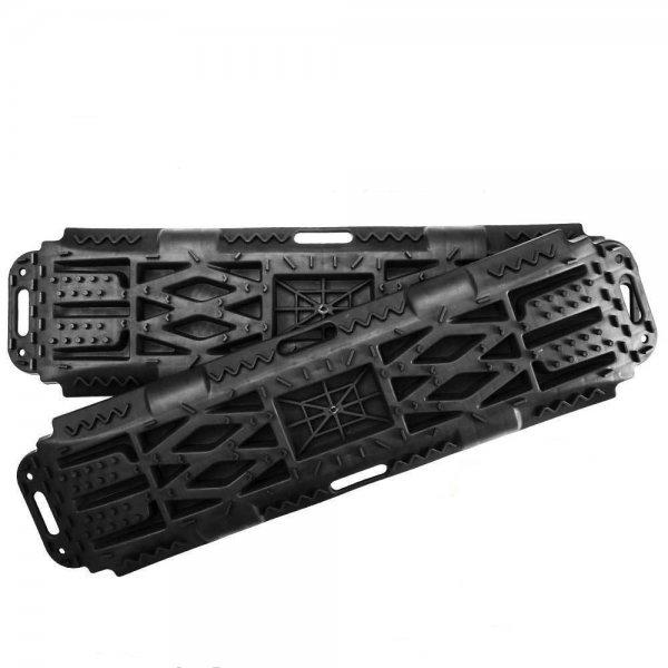 New Pair Recovery Tracks Sand Mud Snow Black Tracks/Trax 4X4 ATV CAR Offroad 4WD