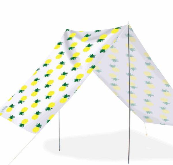 Good Vibes Summer Beach Tent Pineapple 148x370cm