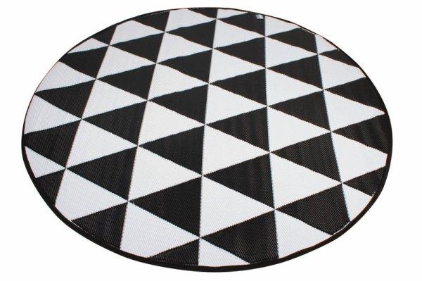 Outdoor Pp Mat Weatherproof Triangle Round Dia. 200cm