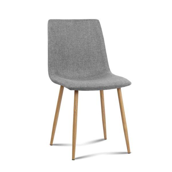 Artiss 4X Collins Dining Chairs - Light Grey