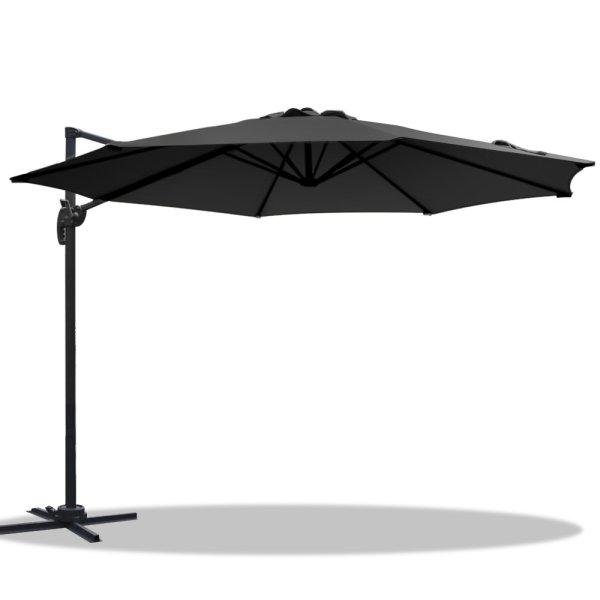 Instahut Roma Outdoor Umbrella - Black