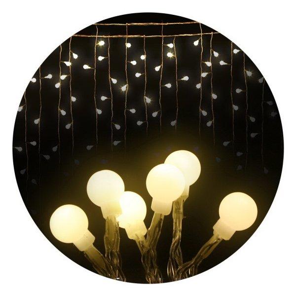 Jingle Jollys 600 LED Curtain Lights - Warm White