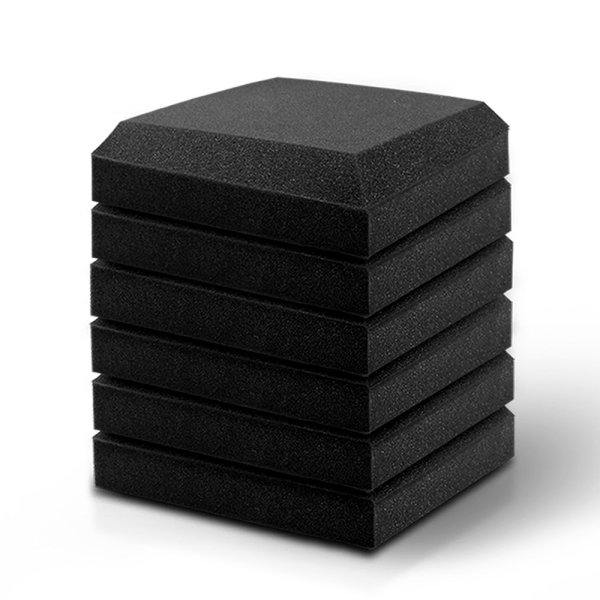 20pcs Studio Acoustic Foam Sound Absorption Proofing Panels 30x30cm Black Flat