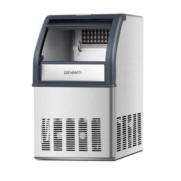 Devanti Commercial 10KG Ice Maker - Stainless Steel