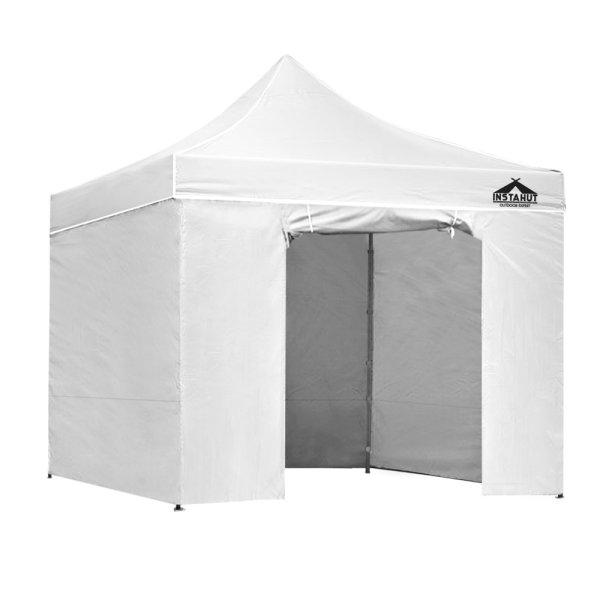 Instahut Aluminium Gazebo Pop Marquee Up 3x3m Outdoor Gazebos Wedding Tent White