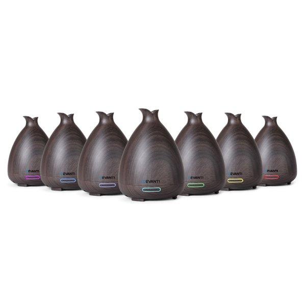 DEVANTI Aroma Diffuser Air Humidifier Dark Wood Grain 120ml