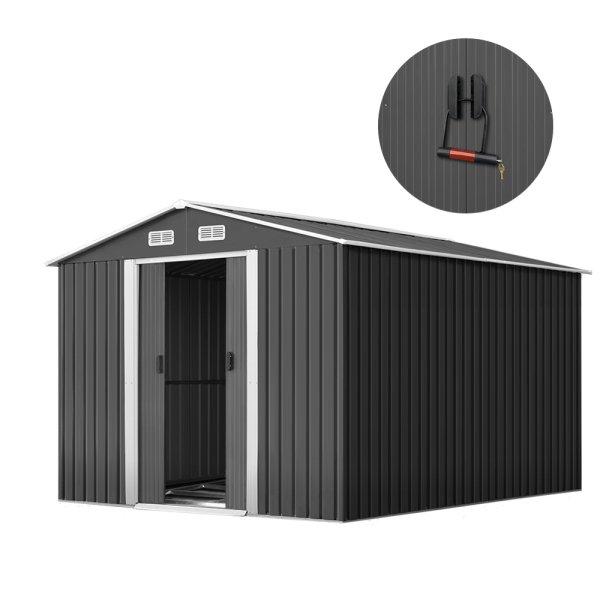 GIANTZ Garden Shed Workshop Shelter Metal Tool 2.6x3.9x2M