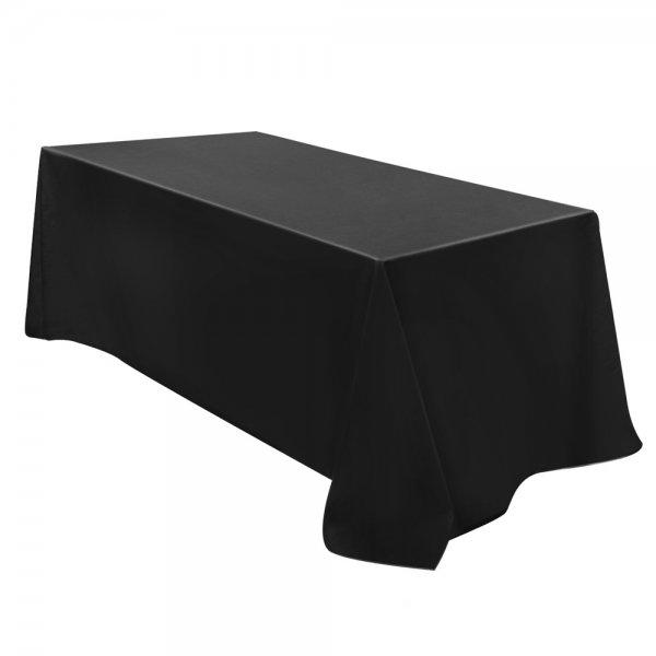 Set of 6 Rectangle Table Cloths Wedding tablecloths Black 320X153CM