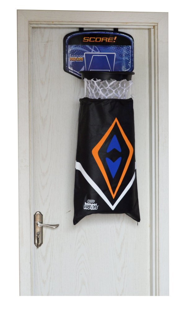 Hamper Basketball Laundry Hoop Hanging Clothes Basket Storage Kids Fun Door Bag