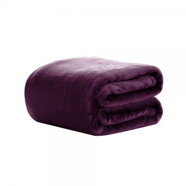 Giselle Bedding Faux Mink Blanket Quilt Duvet Doona Fleece Throw Rug Mauve King