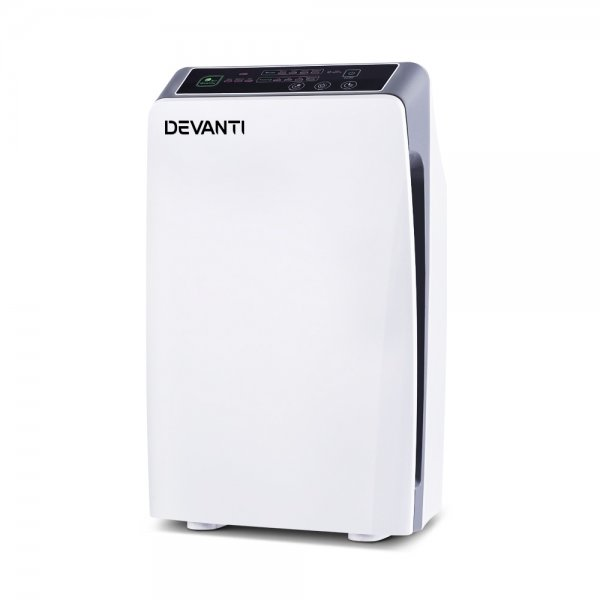 Devanti Air Purifier HEPA Filter 180m³/h CADR Home Freshener Ioniser Odor Dust Cleaner