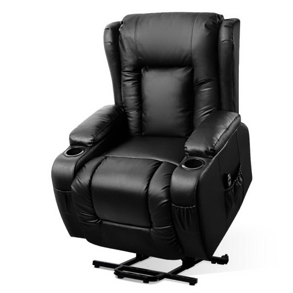 Artiss Electric Recliner Chair Lift Heated Massage Chairs Lounge Sofa Leather
