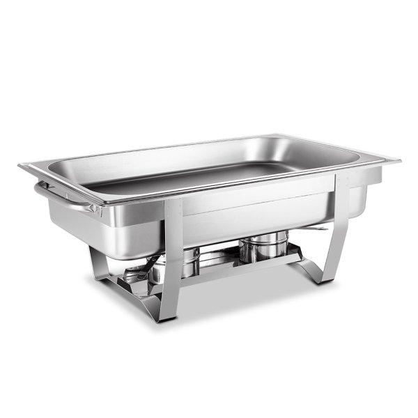 Emajin 9L Bain Marie Bow Chafing Dish Set Stainless Steel Food Buffet Warmer