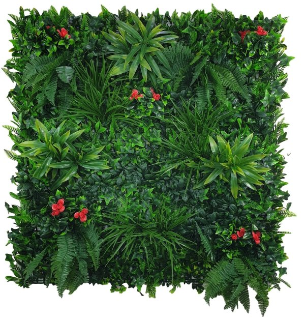 Elegant Red Rose Vertical Garden / Green Wall UV Resistant 100cm x 100cm